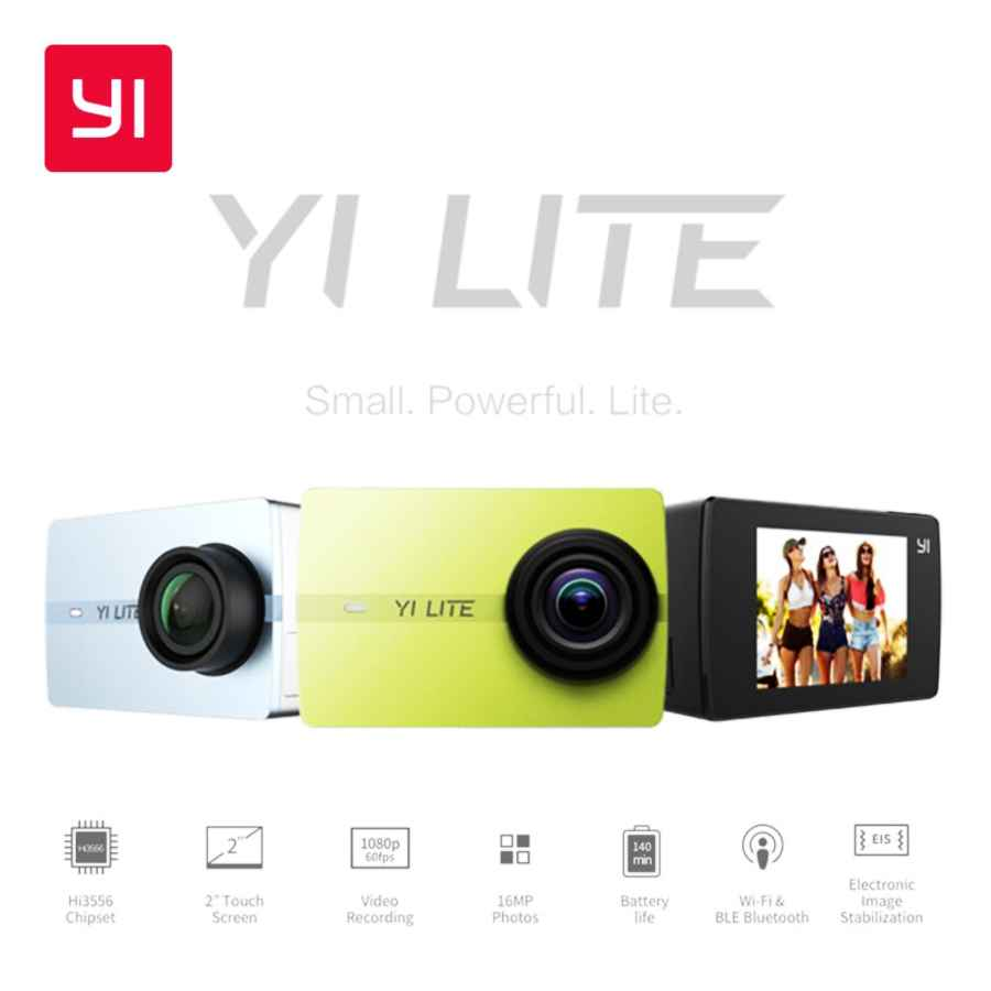Yi Lite Action Camera 16mp Real 4k Sports Camera With