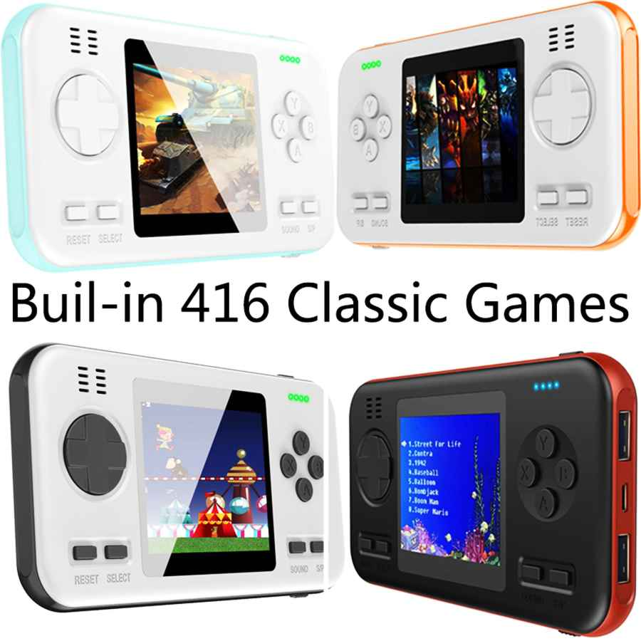 Buil-In 416 Classic Games Gaming Machine Handheld Gamepad Console With