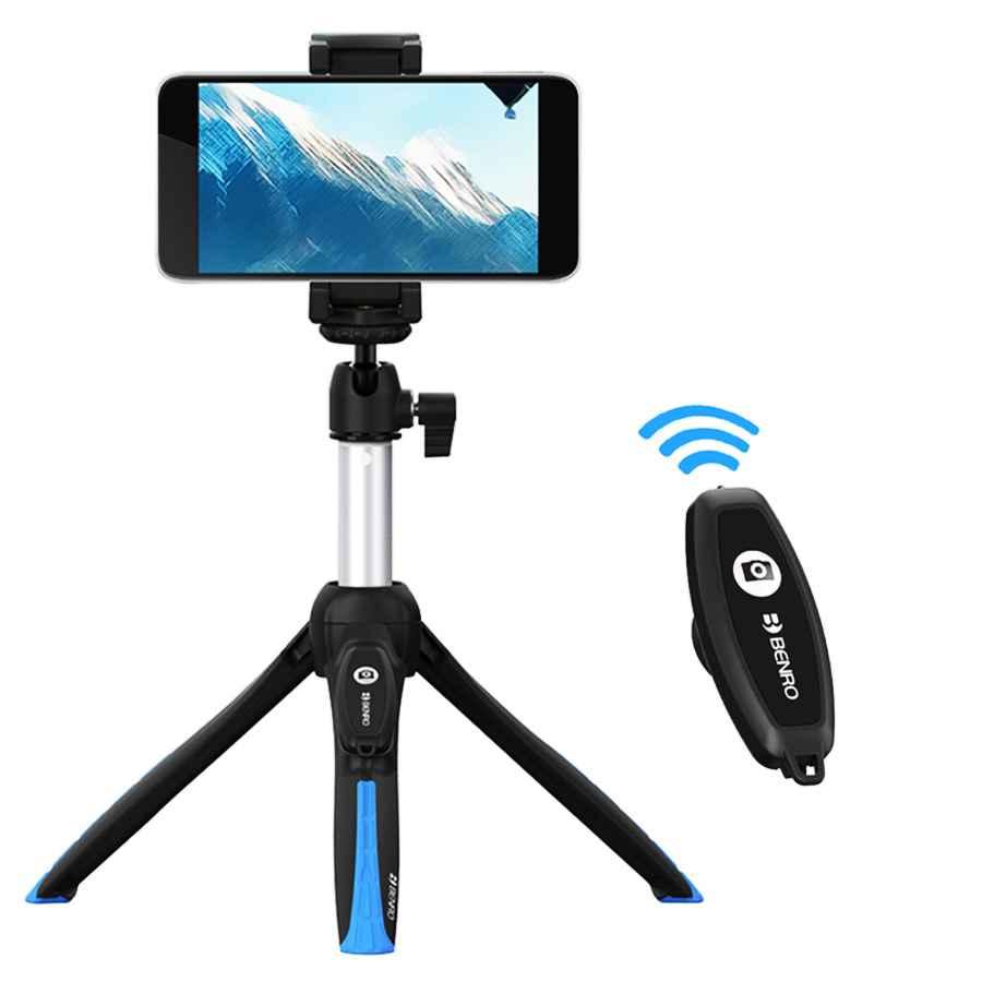 Benro Mk-10 Ii Bluetooth Smartphone Selfie Stick Tripod Portable Vlog