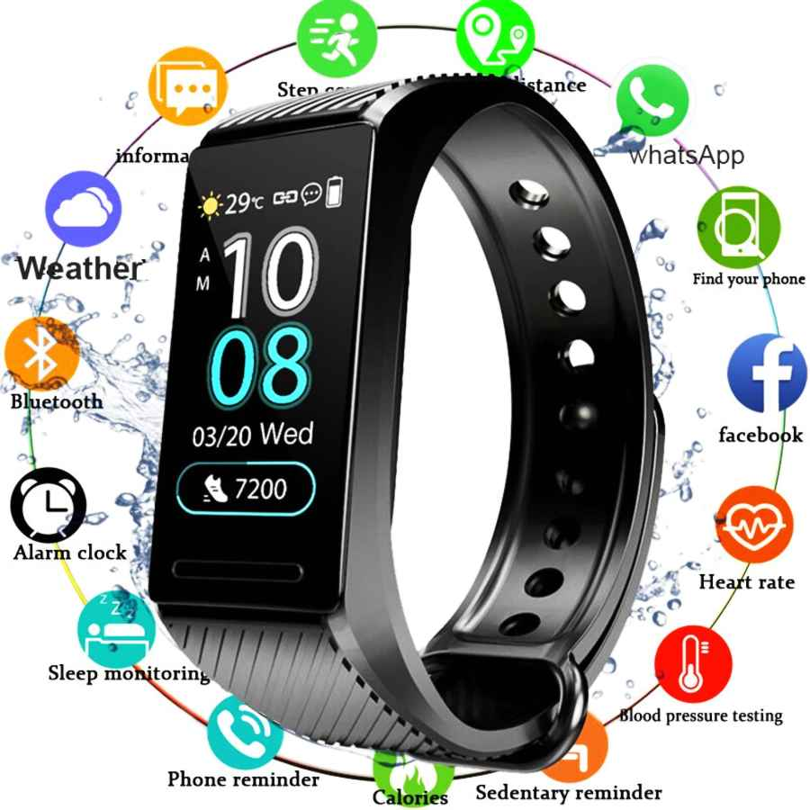 Smart Fitness Bracelet Blood Pressure Measurement Fitness Tracker Heart Rate