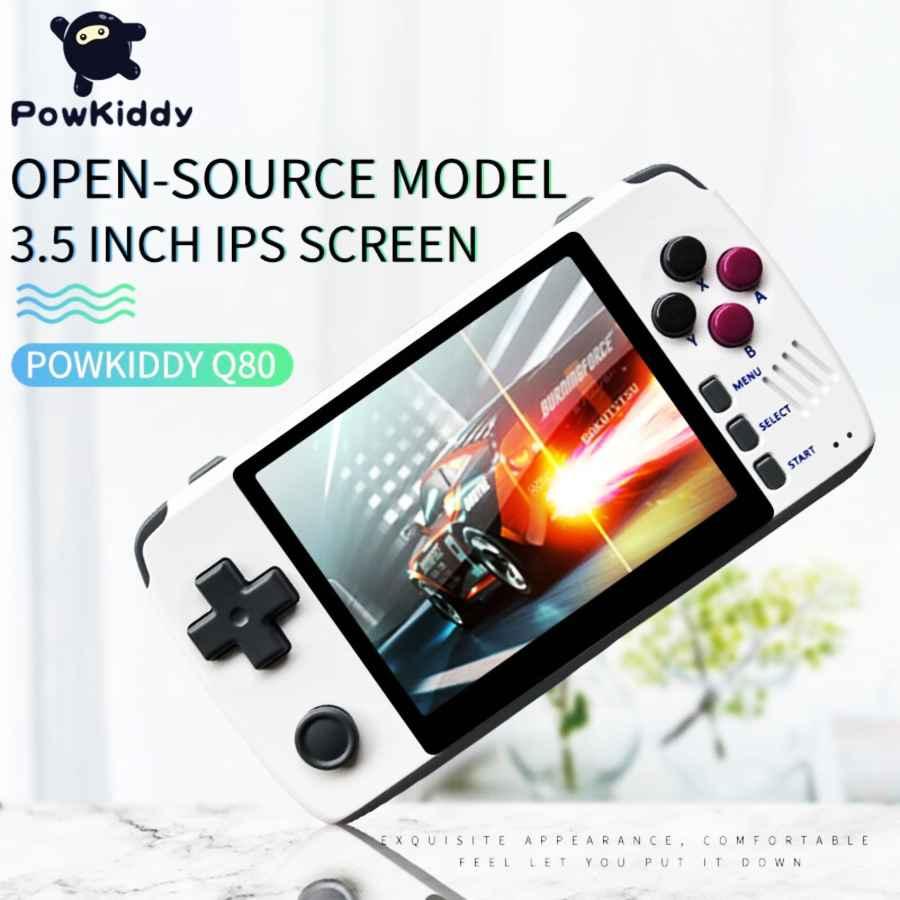 Powkiddy Q80 Retro Video Game Console Handset 3.5 Ips Screen